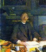 Emile Verhaeren in His Study (rue du Moulin)