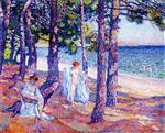 Female Bathers Under the Pines at Cavaliere