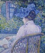 The Lady with the Blue Hat (The Lady Reading)