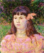 The Pink Ribbon (Portrait of Sylvie Lacombe)