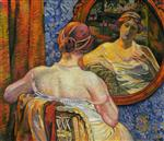 Woman at a Mirror