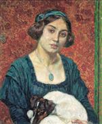 Young Lady with a Dog