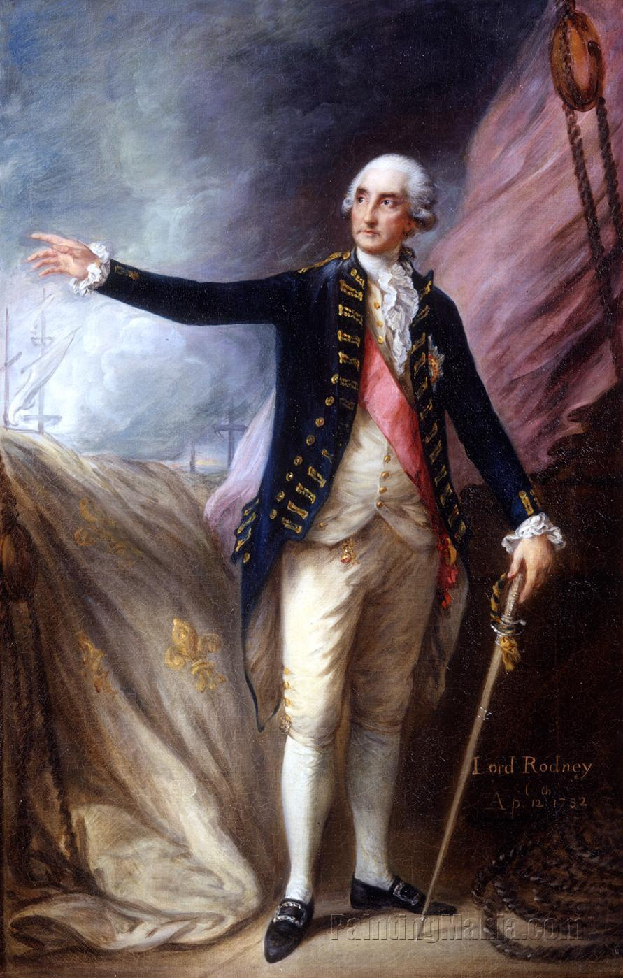 Admiral Rodney at the Battle of the Saintes