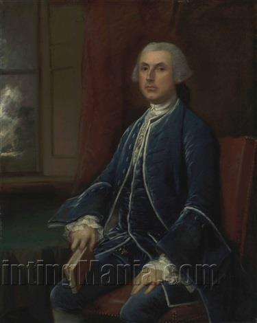 Portrait of a gentleman, three-quarter-length