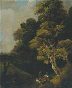 Landscape with Figures under a Tree