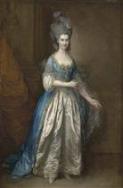 Portrait of Mrs. William Villebois in Masquerade Dress
