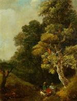 Wooded Landscape with Peasants Resting