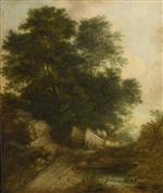 Wooded Landscape with Peasants in a Wagon