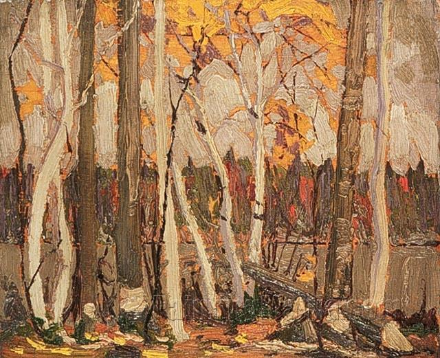 Autumn Birches and Poplars, Canoe Lake