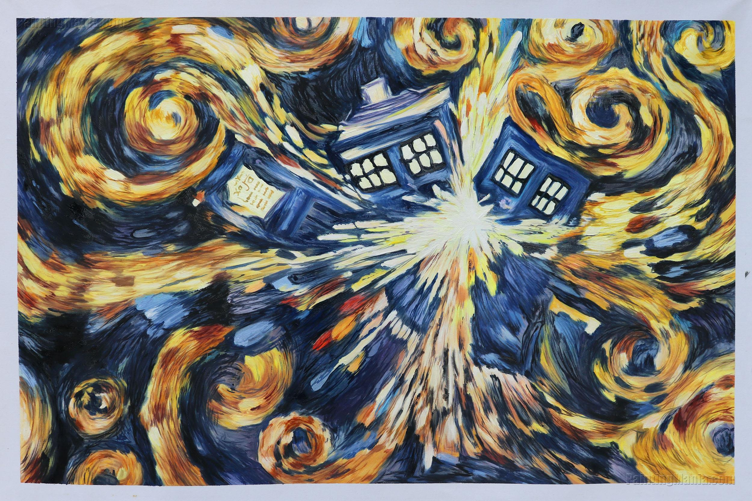 Doctor Who - Exploding Tardis (Blue Box Exploding)