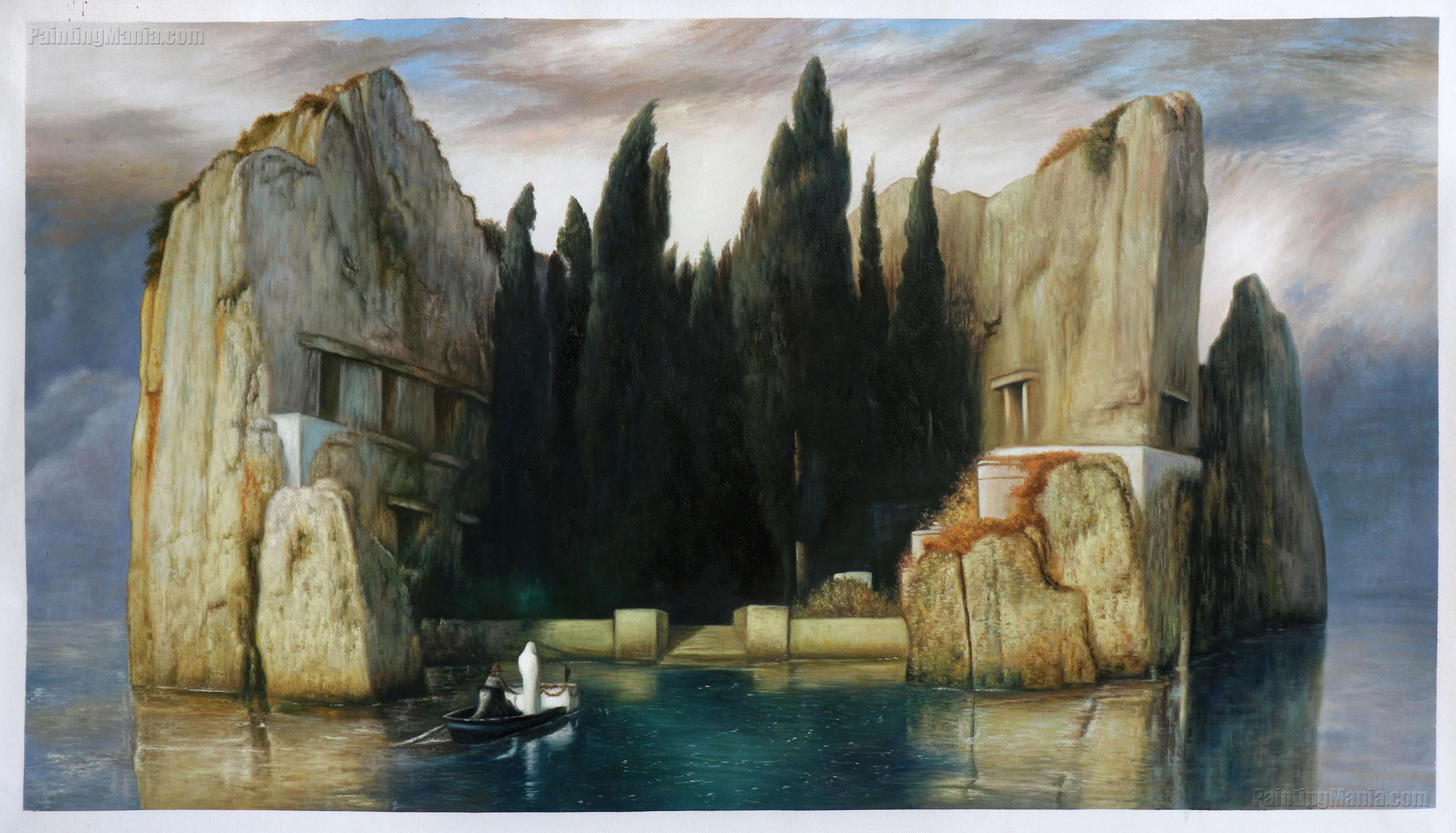 Isle of the Dead (Toteninsel) by Arnold Bocklin
