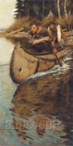 Launching A Canoe