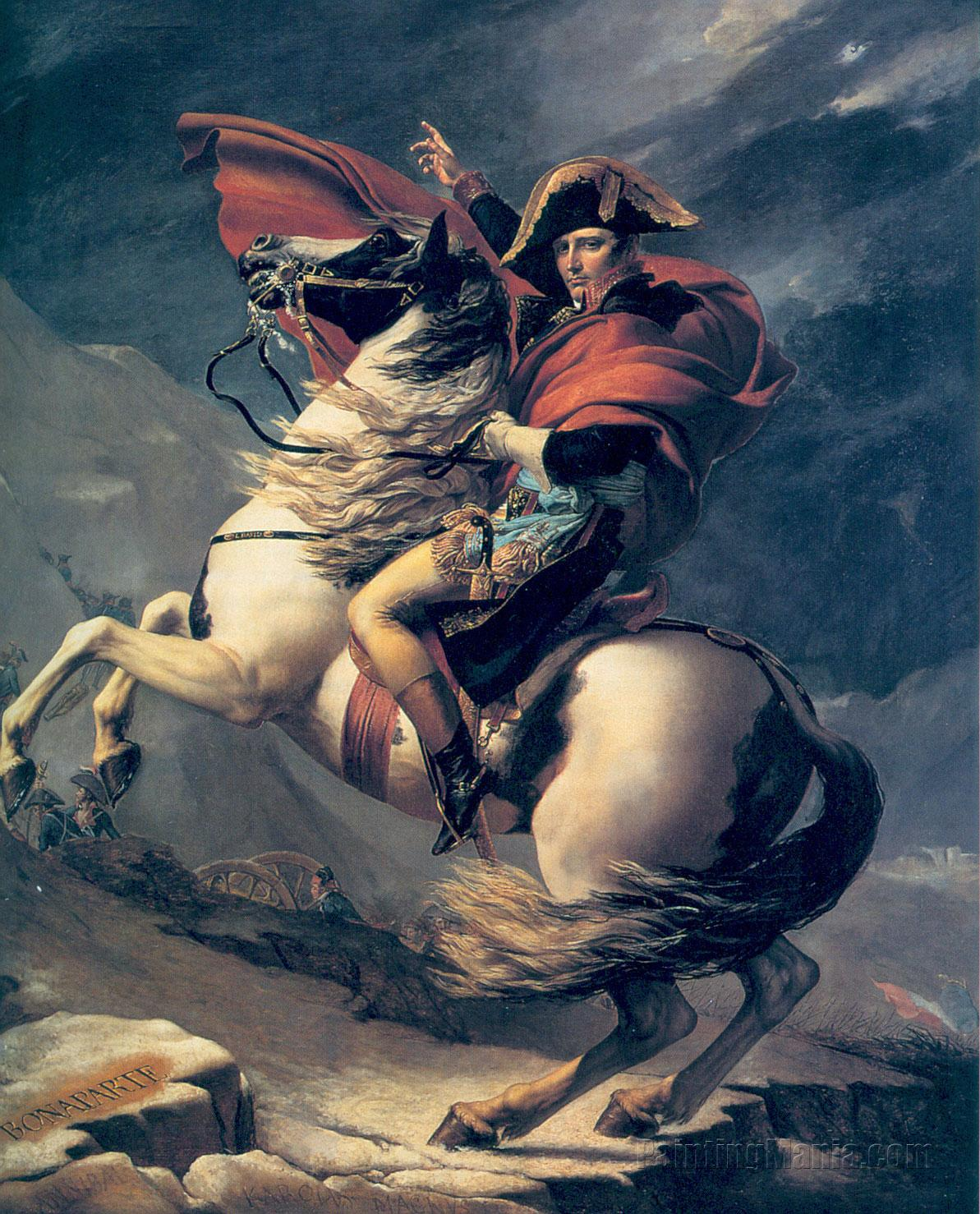 Napoleon Crossing the Alps 1804