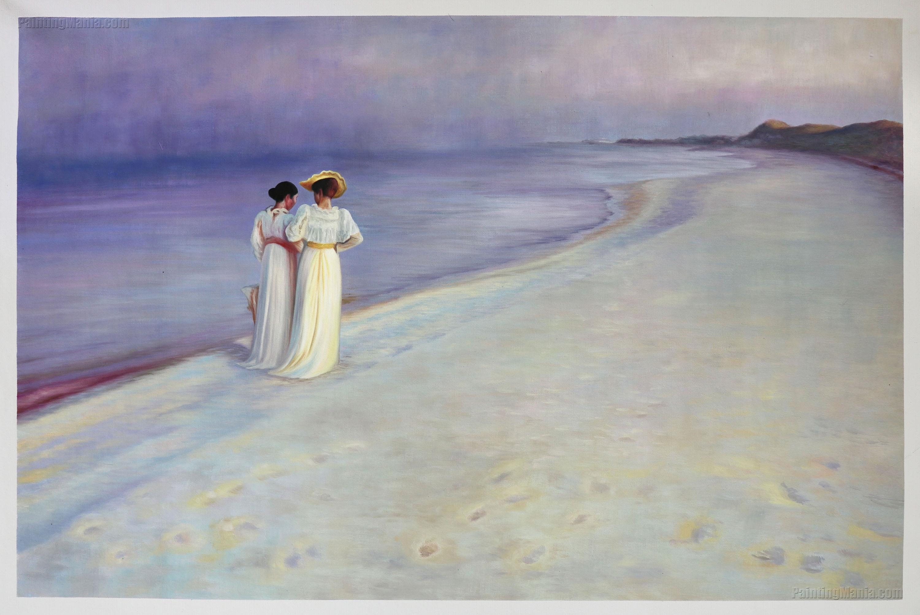 Summer Evening on Skagen's Southern Beach with Anna Ancher and Marie Kroyer