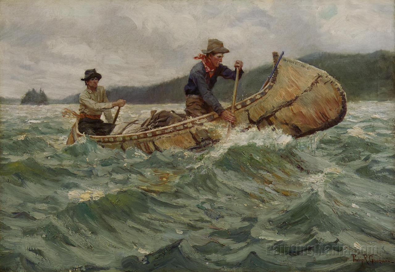 Trappers in a Canoe
