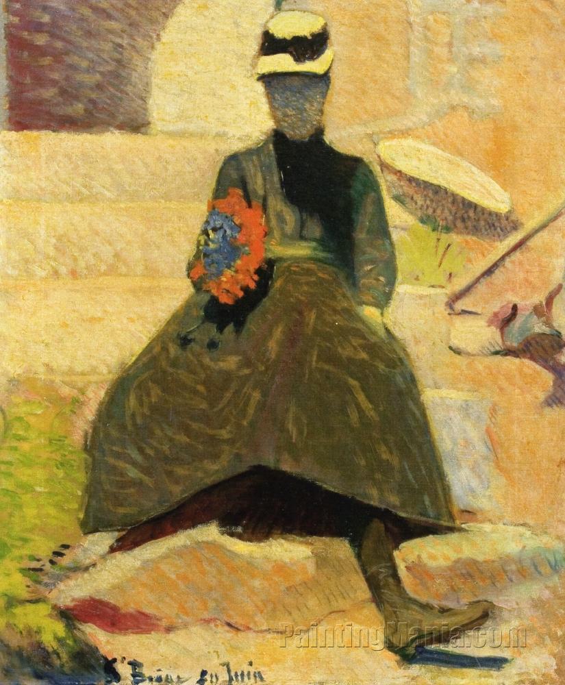 Woman at Saint-Briac