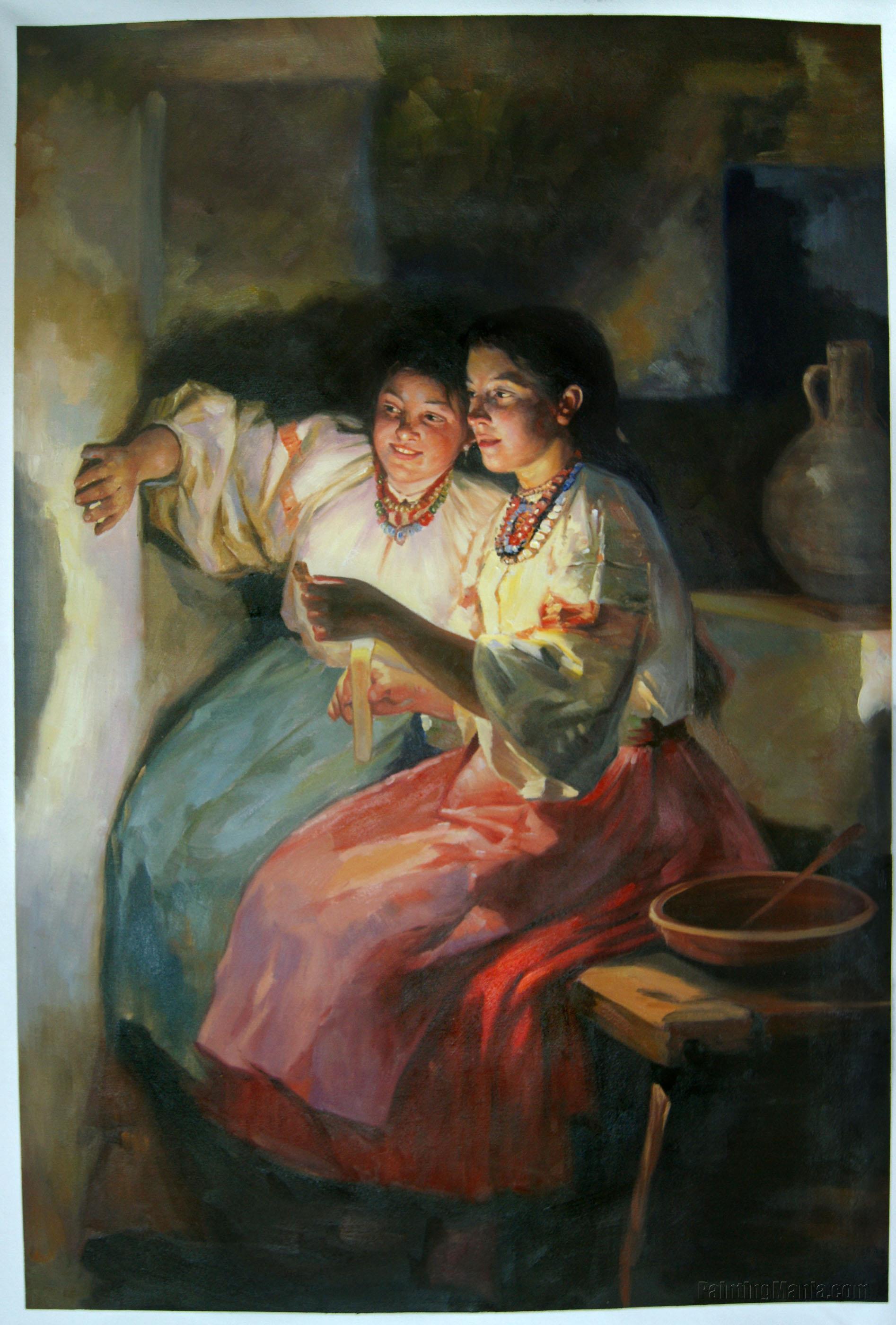 Yuletide Fortune Tellers by Mykola Pymonenko