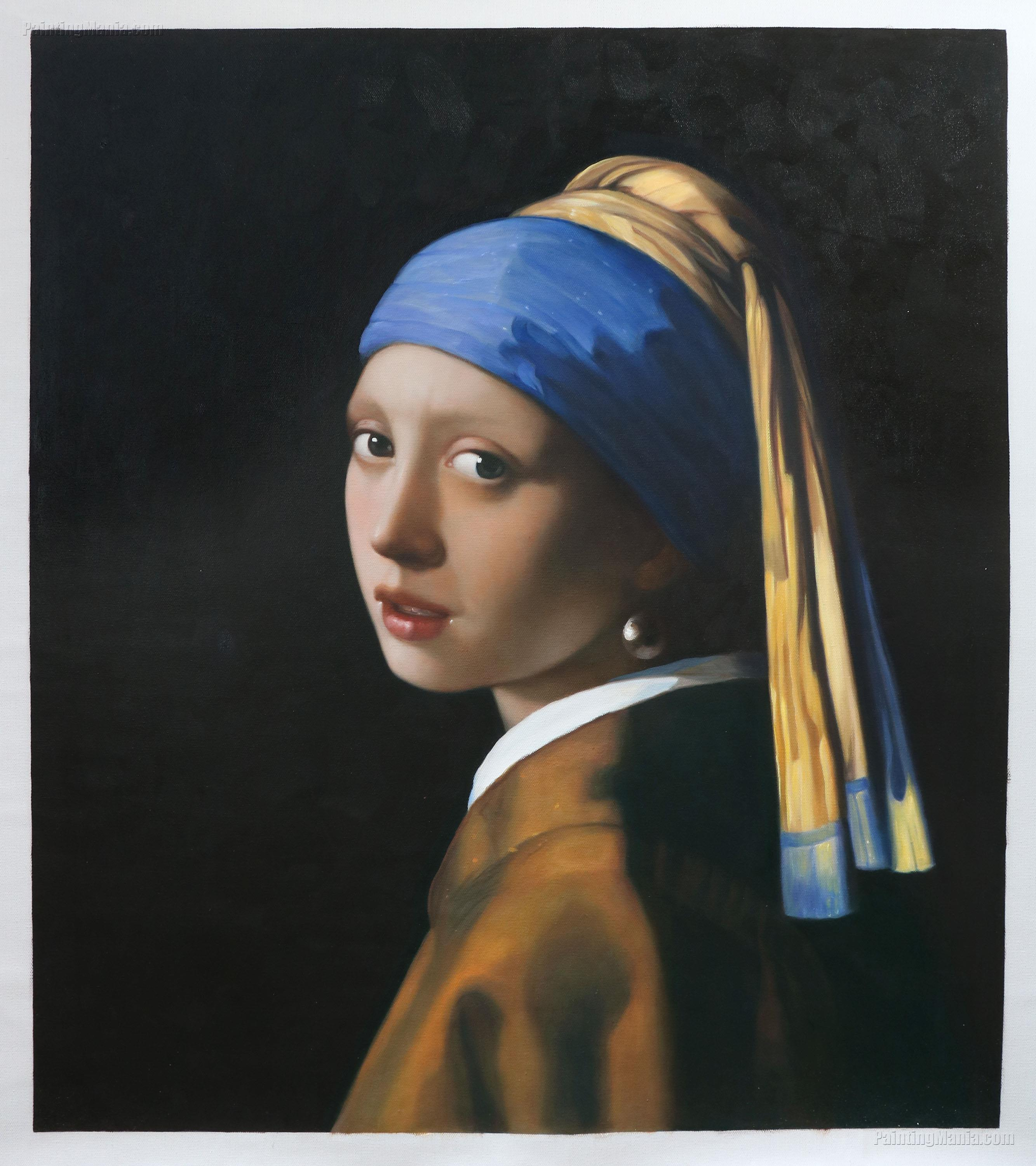 Girl with a Pearl Earring - Johannes Vermeer Paintings A Girl With A Pearl Earring