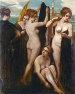 Bathers in the lagoon, Venice