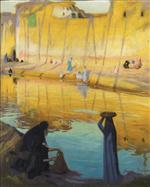 Bords du Nil a Marg, effet de soir