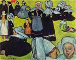 Breton Women in the Meadow (Le Pardon de Pont-Aven)