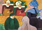Breton Women at a Wall