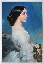 Carmen Aguado, Duchesse de Montmorency by Franz Xaver Winterhalter