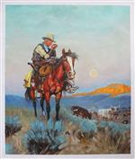 Cowboy Rancher on Horse