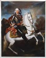 Equestrian portrait of August II the Strong by Louis de Silvestre