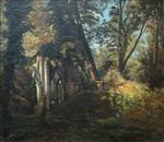 French Monastery Ruins Landscape