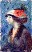 Girl with Flowered Hat