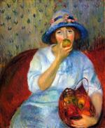 Girl with Green Apples