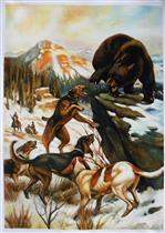 Hounds, Dogs, Bear Scene