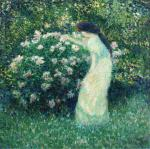 Lili Butler in Claude Monet's Garden