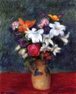 Lilies and Other Flowers in a Vase