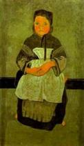 Little Breton Girl Seated (Portrait of Marie Francisaille)