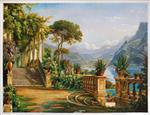 The Lodge on Lake Como (Terrace on the Lake) by Carl Frederik Aagaard
