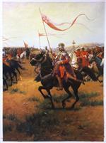 Polish Hussar by Jozef Brandt