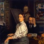 Portrait of Andries Bonger, His Wife and Emile Bernard
