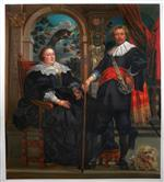 Portrait of Govaert van Surpele and his Wife by Jacob Jordaens