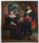 Portrait of Govaert van Surpele and his Wife by Jacob Jordaens