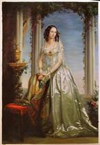 Portrait of Grand Duchess Zinaida Yusupova by Christina Robertson