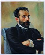 Portrait of Isaak Levitan by Vasily Polenov