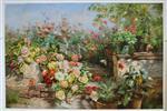 Rustic Garden in Blossom by Olga Wisinger-Florian