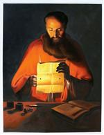 Saint Jerome Reading by Georges de la Tour
