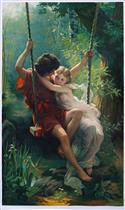 The Swing (Springtime) by Pierre Auguste Cot