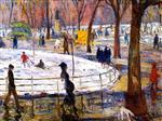 Winter, Washington Square Park