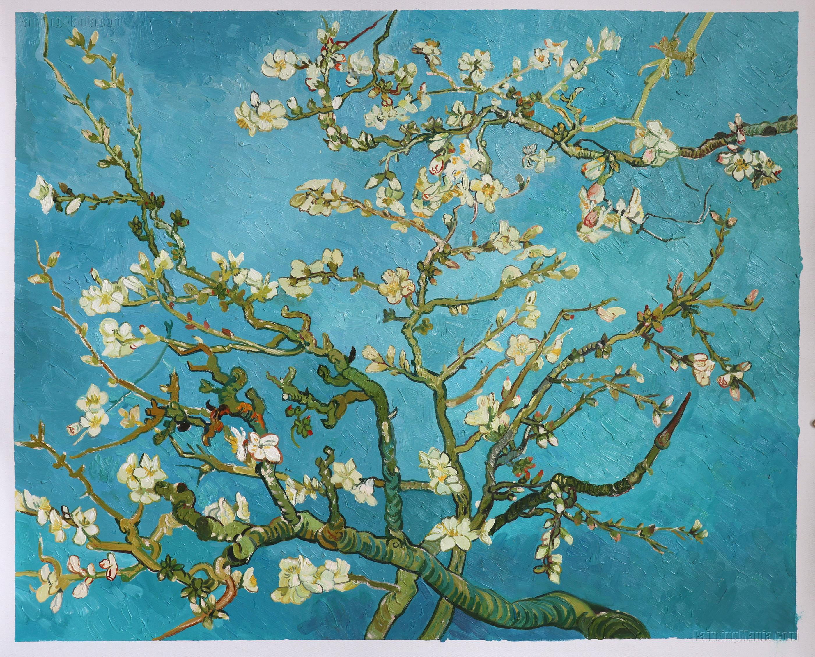 Branches with Almond Blossom 1885 - Vincent van Gogh Paintings