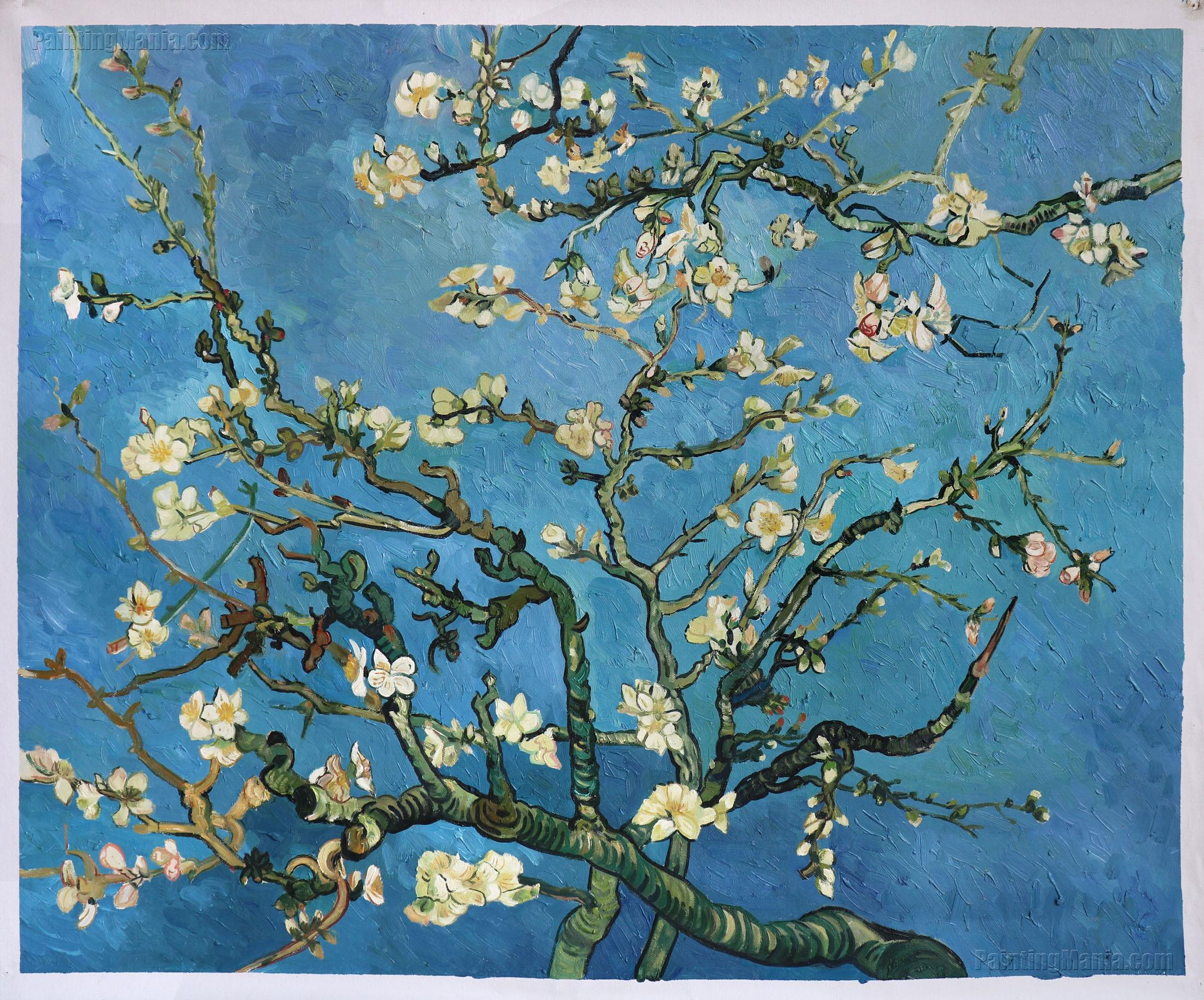 branches with almond blossom vincent van gogh paintings. Black Bedroom Furniture Sets. Home Design Ideas