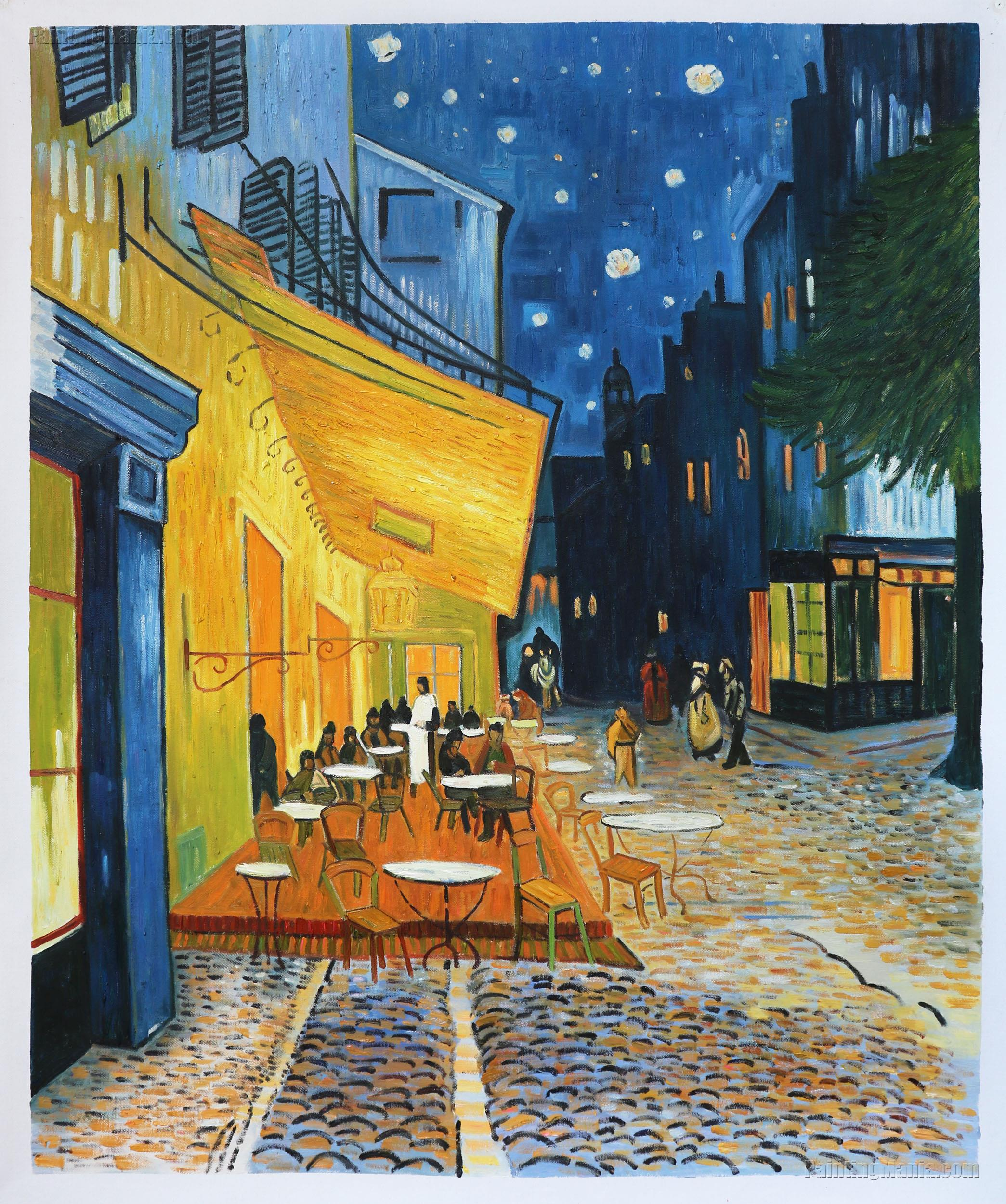 Cafe Terrace on the Place du Forum, Arles, at Night
